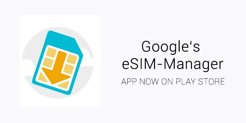 Two Android smartphones made by Google support eSIM functionality